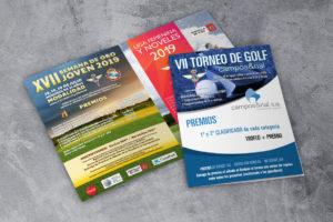 Deseño de cartelería torneos de golf Real Aero Club de Vigo