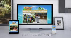 Deseño web aldea cavernicola despedidas